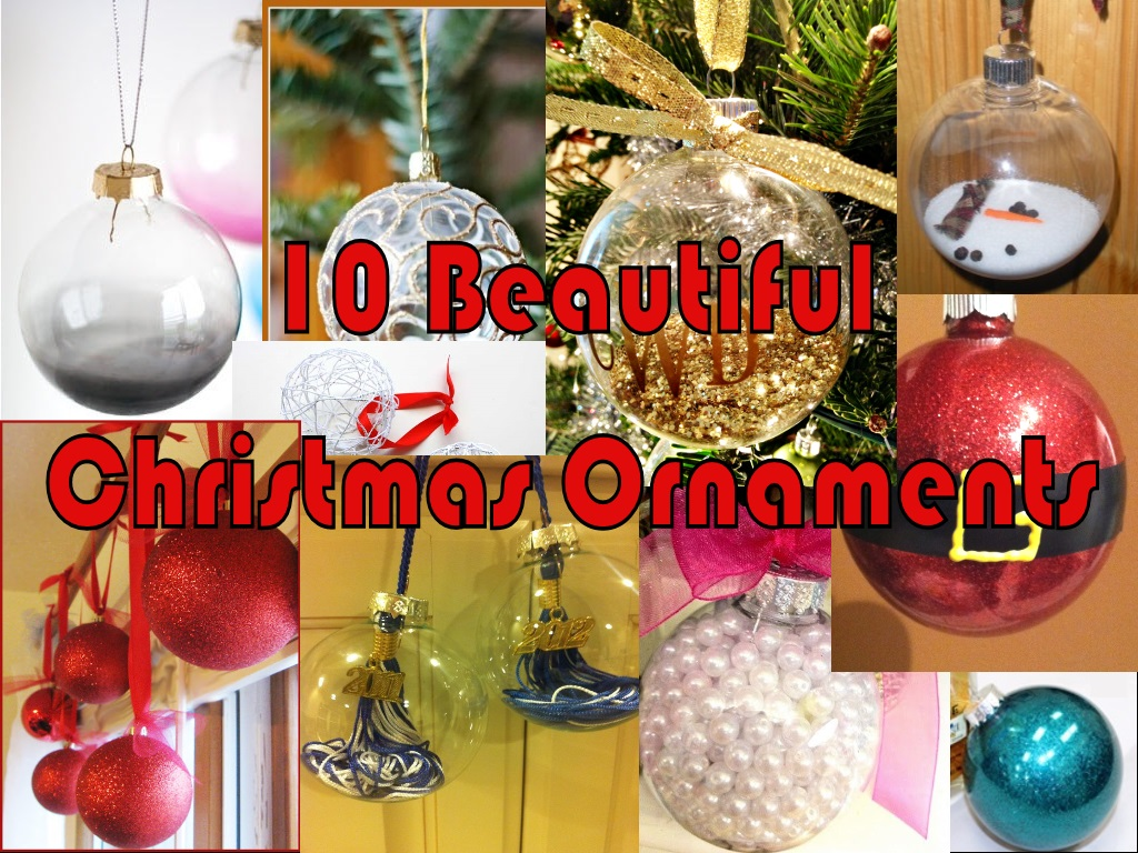 10 beautiful christmas ornaments