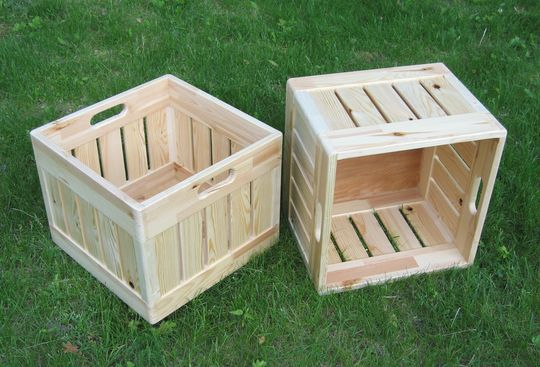 Self sufficient living for Where can i buy wooden milk crates