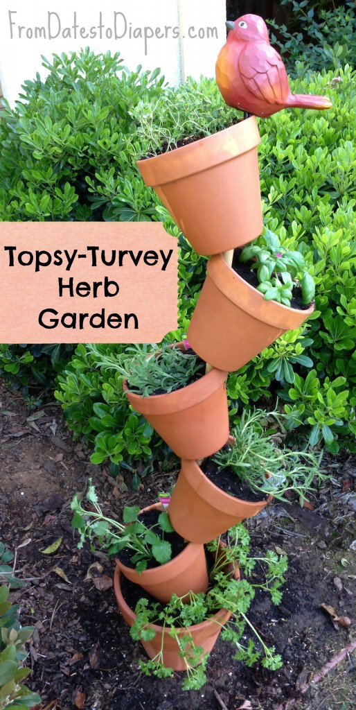 Topsy Turvey Herb Garden Craft Like This
