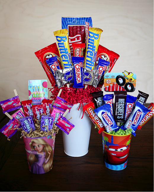 How To Make A Personalized Candy Bar Bouquet Craft Like This