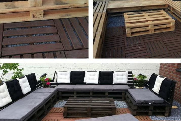 DIY Outdoor Pallet Patio Furniture Craft Like ThisCraft Like This
