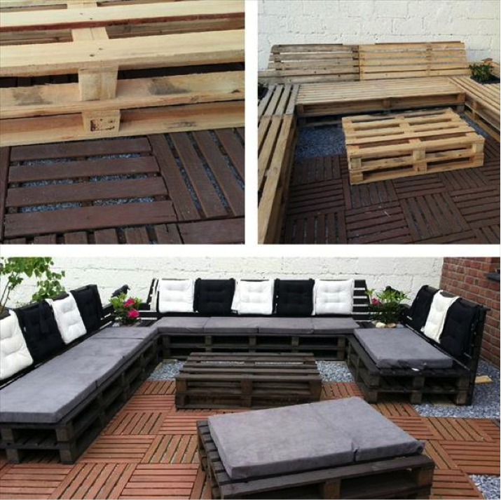 diy outdoor pallet patio furniture craft like this
