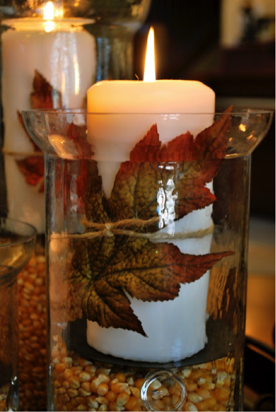 How To Make Festive Fall Centerpieces With Candles Craft