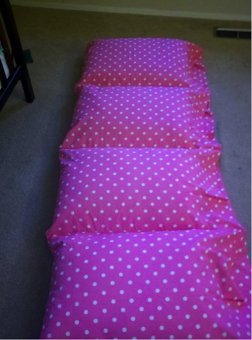 how to make a baby floor pillow